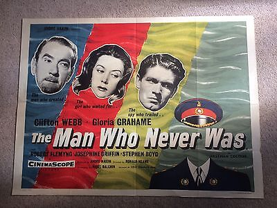 The Man Who Never Was Quad Poster Rare
