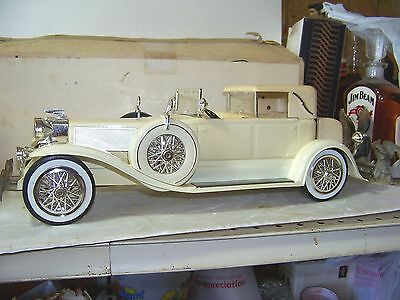 "RARE Jim Beam 1934 White Duesenberg Decanter "" The Great Race """