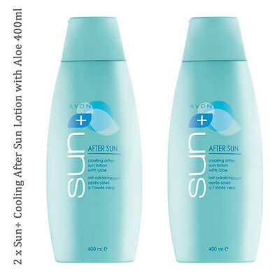 2 x Avon Sun+ After Sun Cooling Lotion with Aloe // Sensitive 400ml (RRP £16)