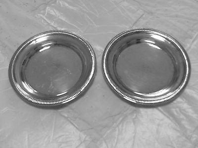 """2 Silver plate Vintage  Bottle coasters in fine condition - Approximately 6"""""""