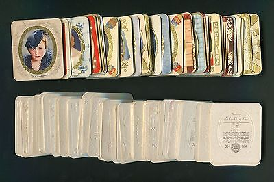 1934 Garbaty actresses vintage lot of 185 different embossed Cigarette Cards NM+