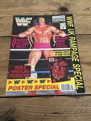 WWF Sporting Superstars Poster Magazine Vol2 no.3 Ultimate Warrior 1991 WWE