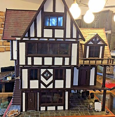 Gerry Welch Tudor Large Dolls House With Furniture and Accessories