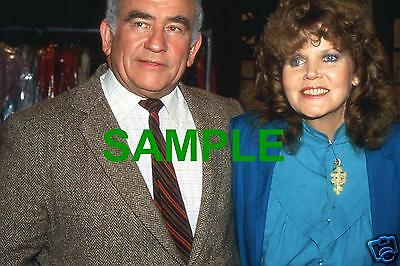 Original 1984 Press Transparency - Ed Asner And Eileen Brennan In Off The Rack