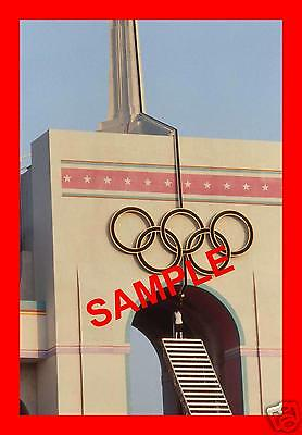 Original 1984 Press Transparency - Olympic Games Opening Ceremony Rafer Johnson