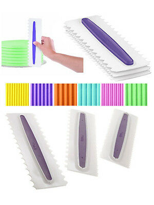 *BRAND NEW* Wilton Icing Comb set of 3 different smoothers for cakes.