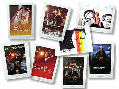 Paul McCartney Live in Concert Wall Poster Gift Set Lot of Eight (8) Posters NEW
