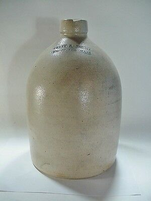 Frank B. Norton, Worcester, Mass Stoneware Jug With Applied Handle