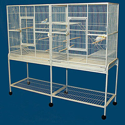 LARGE Double Multiple Flight Parakeets Canaries Cockatiel Finches LoveBird 375