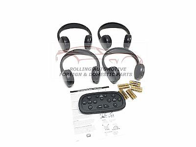 Chevrolet GMC Cadillac Wireless Headphones DVD Remote KIT 4-pc New OEM