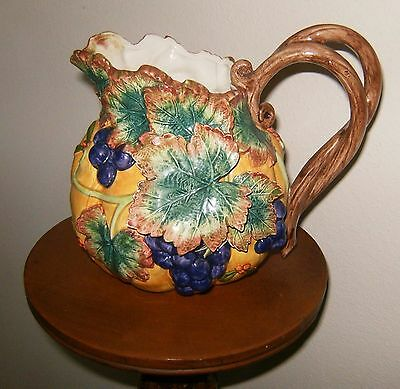 FITZ & FLOYD Autumn harvest pitcher in beautiful condition - never used