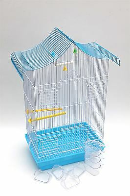 Bird Cage - New Metal Lovebirds Cage for Budgie Canary Parrot With Feeding Bowls