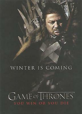 """Game of Thrones Season 1 - SP1 """"You Win or You Die"""" Chase Card"""