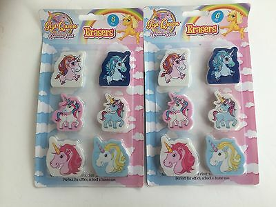 12 X Unicorn Erasers Fun Rubbers Novelty Party Bag Fillers