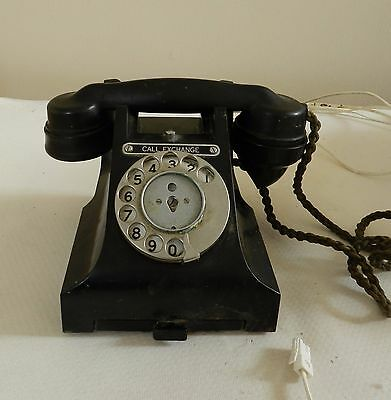 Vintage GPO Bakelite Telephone 312f Call Exchange