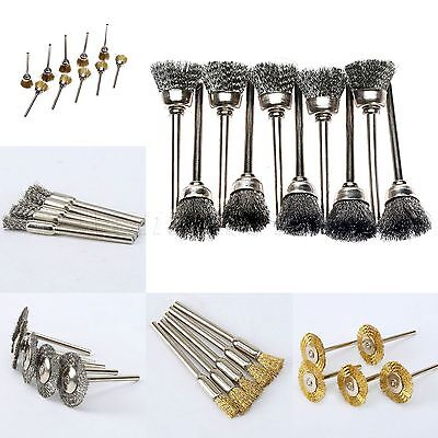 40pcs Wire Brushes Set Wheel For Dremel Grinder Rotary Rust Removal Power Tool