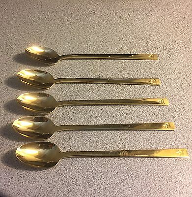 Vtg Special Olympic EP Brass Tea Spoons