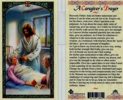 A Caregiver's Prayer As I Watch My Loved Ones Laminated Holy Cards HC9-610E