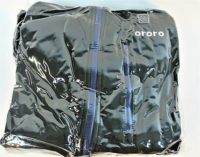 ORORO Men's Heated Jacket Kit with Detachable Hood, Large, Black and Blue