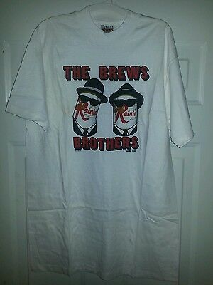 Original Rainier Beer Brews Brothers Blues Brothers tribute T-shirt L