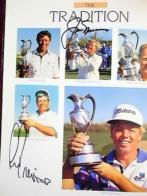 33 PRO GOLF SIGNATURES IN BOOK Jack Nicklaus, Gary Player, Ray Floyd, Tommy Bolt