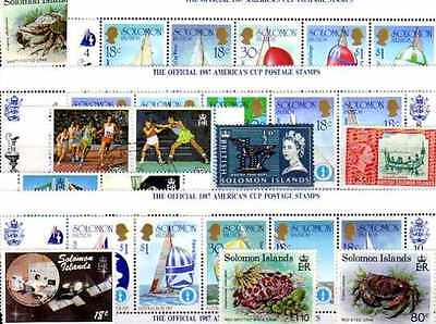Iles Salomon - Salomon Islands 100 timbres différents
