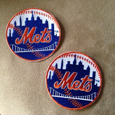 Sports Memorabilia, Fan Shop & Sports Cards New York Mets MLB Logo Patch 2.5Inch Round Iron On
