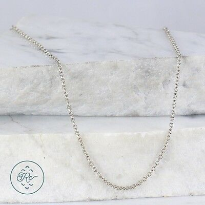 "Sterling Silver | 2mm Cable Chain 3g | Necklace (15.75"") MR4443"