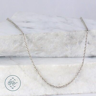 "Sterling Silver | 2mm Cable Chain 3g | Necklace (15.75"") MR4453"