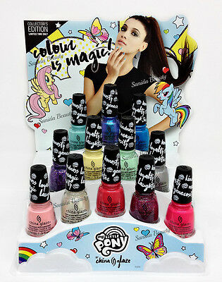 LIMITED China Glaze Nail Lacquer - COLOUR IS MAGIC - MY LITTLE PONY - Pick Color