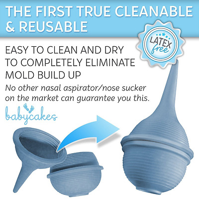 Baby Nasal Aspirator and Nose Cleaner for Newborns and Toddlers - Cleanable and