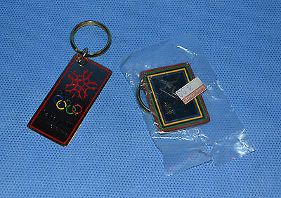 Calgary Winter Olympic Games 1988 Key Chains - Lot Of 2