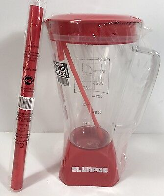 7-11 Eleven Slurpee Blender Mug 52 Oz New Sealed With Extra Large Straw Red NWT