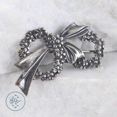 Sterling Silver | Flower Wreath Bow 3.3g | Brooch MS1413