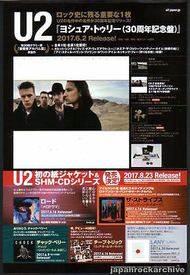 2017 U2 The Joshua Tree 30th Anniversary JAPAN album promo press / print ad u7r