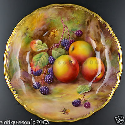 ROYAL WORCESTER Fruit Hand Painted Porcelain Plate Dish HORACE PRICE SIGNED #1