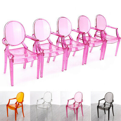 5X 1:6 Scale Barbie Dollhouse Armchair Doll House Miniature Furniture Chair Toys
