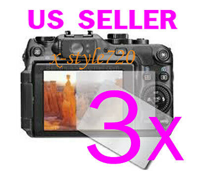 3x Clear LCD Screen Protector Cover Guard For Canon PowerShot G12