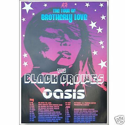 Black Crowes Oasis Brotherly Love Tour 2001 Poster New Official Nos