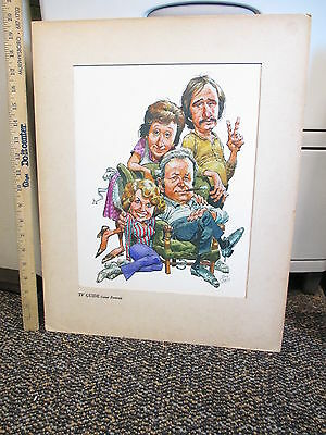 TV GUIDE Cover Portrait 1971 CBS All in the Family Jack Davis cartoon comic