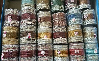 Joblot Wholesale 100 SETS INDIAN BANGLES BRACLETS CHURI Brand new FREEPOST UK