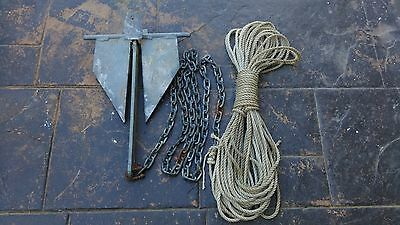 6kg Sand Anchor including 6mm Chain and 8mm Rope