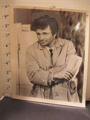 NBC TV studio show promo photo 1970s Peter Falk Columbo raincoat
