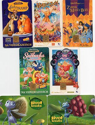 Disney Phone Cards Belgium Little Mermaid Lady and the Tramp SPT Telecom