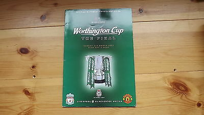 Football Programmes League Cup Final Man Utd V Liverpool 2003
