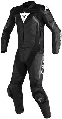 Dainese Motorcycle Leather Suit Avro D2 Two Piece Black Black Anthracite 60 NEW