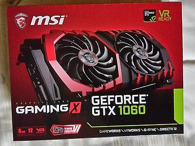 MSI GeForce GTX 1060 6GB GAMING X Boost VR Ready Graphics Card (Brand New)