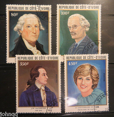 Ivory Coast Stamp 624-627, Anniversaries , NH, SCV $4