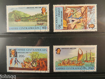 Central African Republic Stamps 341-344, Captain Cook, NH, SCV $3