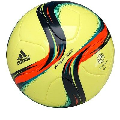 adidas Mens Pro Ligue 1 Top Glider Match Ball Size 5 Football Yellow